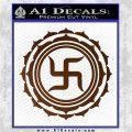 Buddha Spiritual Swastika Lotus Buddhism Decal Sticker Brown Vinyl 120x120