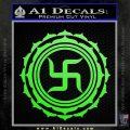 Buddha Spiritual Swastika Lotus Buddhism Decal Sticker Lime Green Vinyl 120x120
