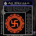 Buddha Spiritual Swastika Lotus Buddhism Decal Sticker Orange Vinyl Emblem 120x120