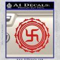 Buddha Spiritual Swastika Lotus Buddhism Decal Sticker Red Vinyl 120x120