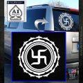 Buddha Spiritual Swastika Lotus Buddhism Decal Sticker White Emblem 120x120