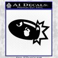 Bullet Bill Blast Decal Sticker Black Logo Emblem 120x120