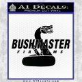 Bushmaster Firearms Logo Cobra Decal Sticker Black Logo Emblem 120x120