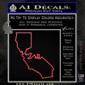 California Bear Decal Sticker Pink Vinyl Emblem 120x120
