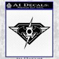 DC Super Heros Justice League Mashup Decal Sticker Black Logo Emblem 120x120