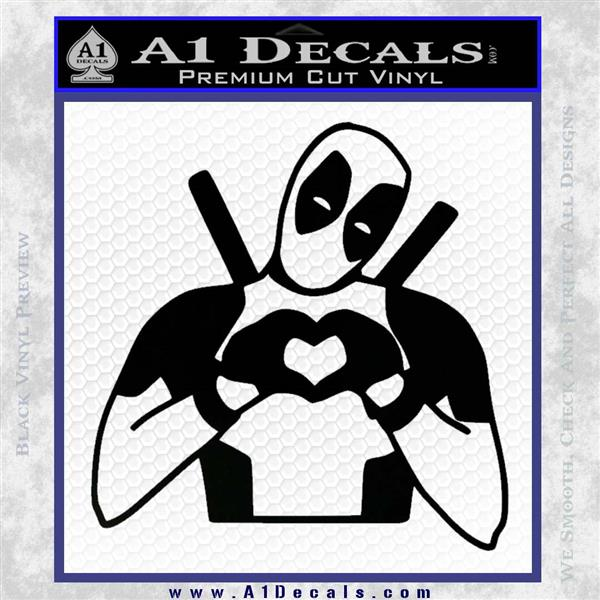 Dead Fool Heart Decal Sticker Black Logo Emblem