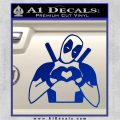 Dead Fool Heart Decal Sticker Blue Vinyl 120x120