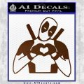 Dead Fool Heart Decal Sticker Brown Vinyl 120x120