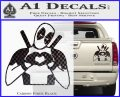 Dead Fool Heart Decal Sticker Carbon Fiber Black 120x97