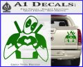 Dead Fool Heart Decal Sticker Green Vinyl 120x97