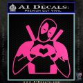 Dead Fool Heart Decal Sticker Hot Pink Vinyl 120x120