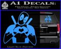 Dead Fool Heart Decal Sticker Light Blue Vinyl 120x97