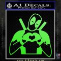 Dead Fool Heart Decal Sticker Lime Green Vinyl 120x120