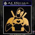 Dead Fool Heart Decal Sticker Metallic Gold Vinyl Vinyl 120x120