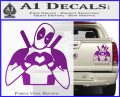Dead Fool Heart Decal Sticker Purple Vinyl 120x97