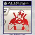 Dead Fool Heart Decal Sticker Red Vinyl 120x120