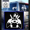 Dead Fool Heart Decal Sticker White Emblem 120x120