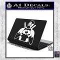 Dead Fool Heart Decal Sticker White Vinyl Laptop 120x120
