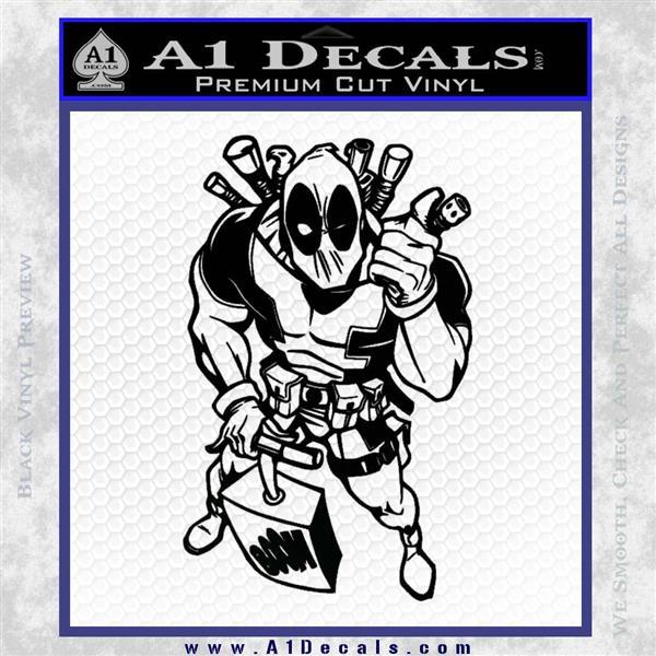 Dead Fool TNT Decal Sticker Black Logo Emblem