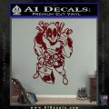 Dead Fool TNT Decal Sticker Dark Red Vinyl 120x120