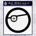 Deadshot emblem DLB Decal Sticker Black Logo Emblem 120x120
