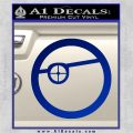Deadshot emblem DLB Decal Sticker Blue Vinyl 120x120