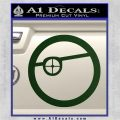 Deadshot emblem DLB Decal Sticker Dark Green Vinyl 120x120