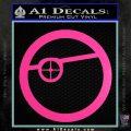 Deadshot emblem DLB Decal Sticker Hot Pink Vinyl 120x120