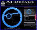 Deadshot emblem DLB Decal Sticker Light Blue Vinyl 120x97