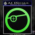 Deadshot emblem DLB Decal Sticker Lime Green Vinyl 120x120