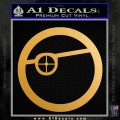 Deadshot emblem DLB Decal Sticker Metallic Gold Vinyl Vinyl 120x120
