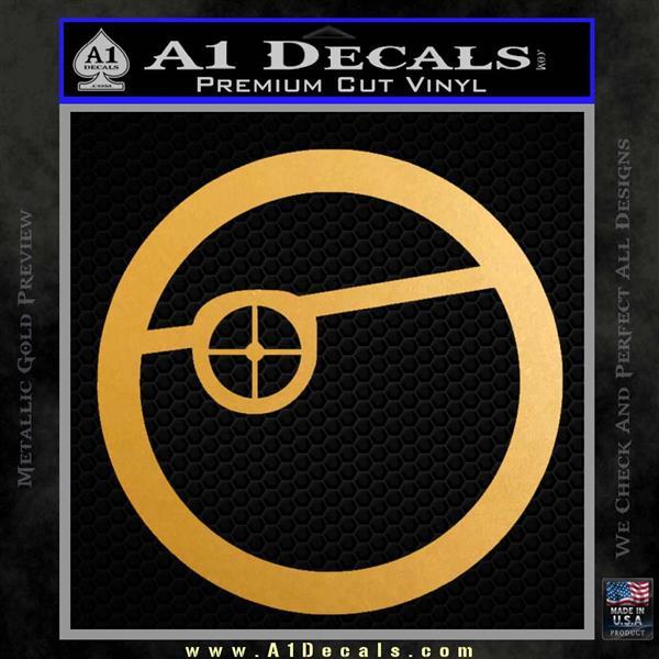 Deadshot emblem DLB Decal Sticker Metallic Gold Vinyl Vinyl