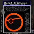 Deadshot emblem DLB Decal Sticker Orange Vinyl Emblem 120x120