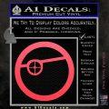Deadshot emblem DLB Decal Sticker Pink Vinyl Emblem 120x120