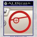 Deadshot emblem DLB Decal Sticker Red Vinyl 120x120