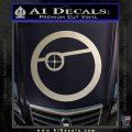 Deadshot emblem DLB Decal Sticker Silver Vinyl 120x120
