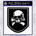 Death Skull Badge Decal Sticker Black Logo Emblem 120x120