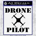 Drone Pilot SQ Decal Sticker Black Logo Emblem 120x120