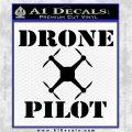 Drone Pilot SQ Decal Sticker Black Logo Emblem 120x120