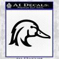 Ducks Unlimited Wood Duck Decal Sticker Black Logo Emblem 120x120