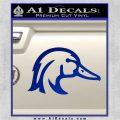 Ducks Unlimited Wood Duck Decal Sticker Blue Vinyl 120x120