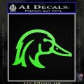 Ducks Unlimited Wood Duck Decal Sticker Lime Green Vinyl 120x120