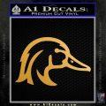 Ducks Unlimited Wood Duck Decal Sticker Metallic Gold Vinyl Vinyl 120x120