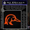 Ducks Unlimited Wood Duck Decal Sticker Orange Vinyl Emblem 120x120