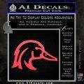 Ducks Unlimited Wood Duck Decal Sticker Pink Vinyl Emblem 120x120
