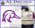 Ducks Unlimited Wood Duck Decal Sticker Purple Vinyl 120x97