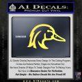 Ducks Unlimited Wood Duck Decal Sticker Yelllow Vinyl 120x120