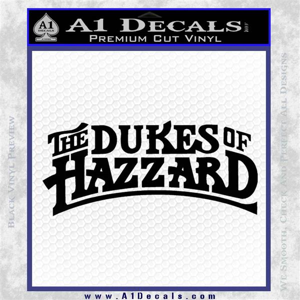 Dukes Of Hazzard T1 Decal Sticker 187 A1 Decals