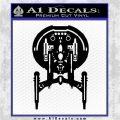 Enterprise NX 01 Decal Sticker Star Trek Black Logo Emblem 120x120