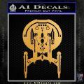 Enterprise NX 01 Decal Sticker Star Trek Metallic Gold Vinyl Vinyl 120x120
